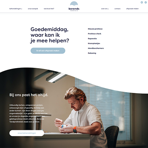 Website Berends Tandprothetiek