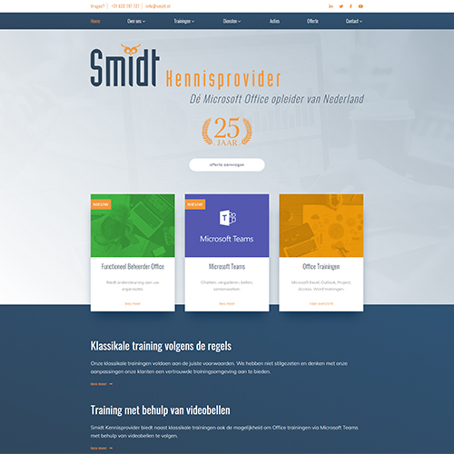 Website Smidt Kennisprovider
