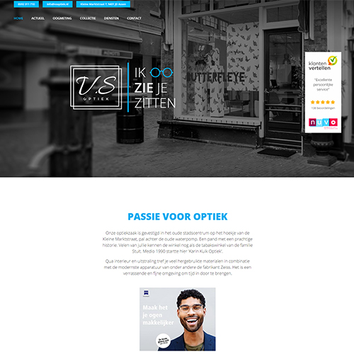 Website V.S Optiek
